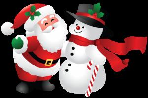 Snowman-And-Santa-Claus